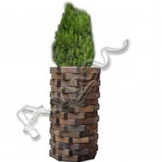 Дървена кашпа -    иглолистна   дървесина   /ф45h114/